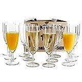 Van Well - Set di 12 bicchieri da spumante Royalty, 0,1 l, diametro 50 mm, altezza 160 mm, calici da champagne e prosecco, per feste e ristoranti