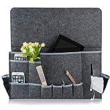 seguryy Bett Organizer Zum Aufhängen Storage Caddy Betttaschen 12 Taschen groß, Caddy Organizer Storage Kabine Etagenbetten Sofa – 57,9 x 30 x 8 cm (Tief grau) Vergleich