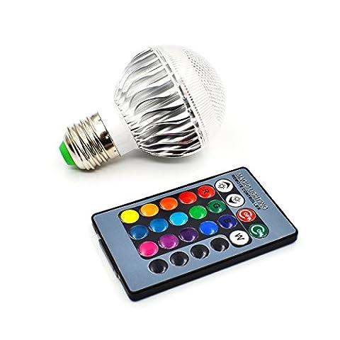 Master-Light 5W E27 RGB Lampe Glühbirne mit Fernbedienung 16 Farben Farbwechsel Birne, 90x60mm