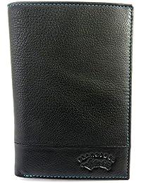 Francinel [M0569] - Portefeuille cuir 'Troubadour' noir multicolore