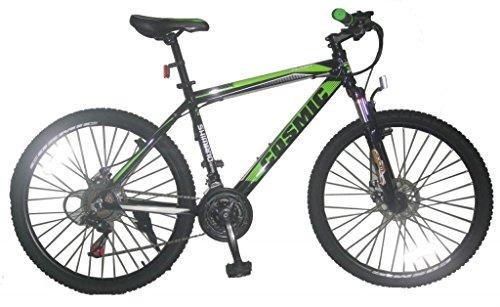 Cosmic Flash MTB 21 Speed Bicycle, Kid's 26-inch (Black/Green)