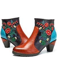 cf0c5362bce Amazon.fr   Multicolore - Bottes et bottines   Chaussures femme ...