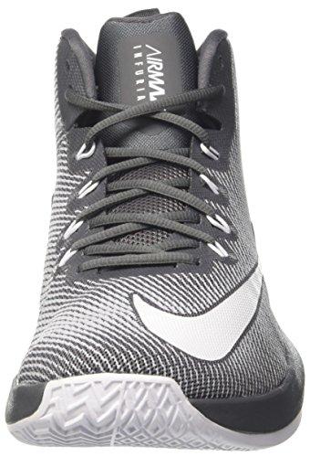 Nike Herren Air Max Infuriate Mid Basketballschuhe Dunkelgrau (Dark Grey/White/Wolf Grey)