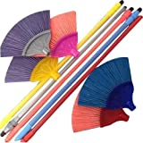 #7: Collectrio Fiber Cobweb Broom with Long Handle for Easy Grip Assorted Colour