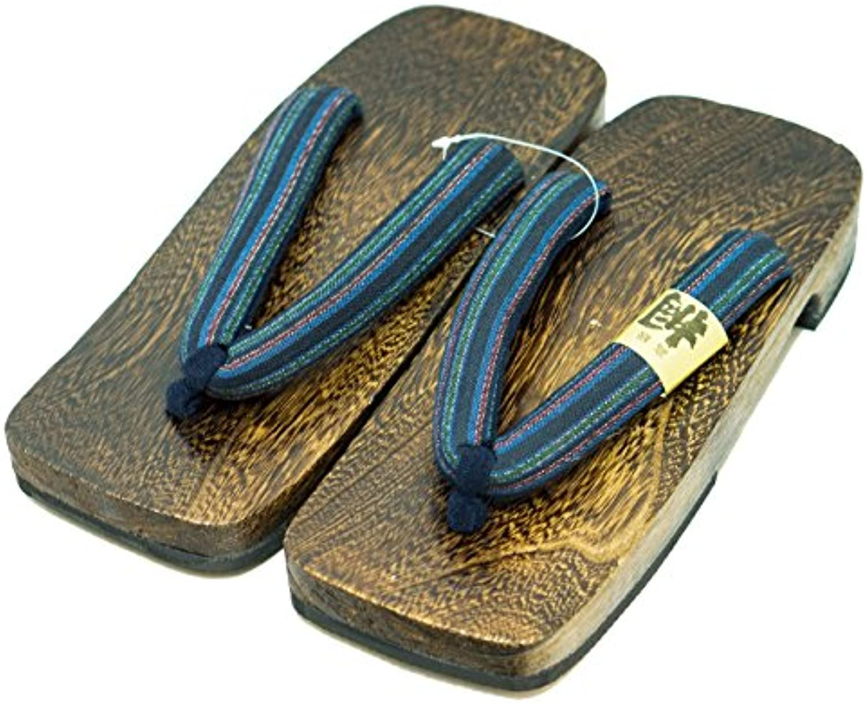 [Japón Hecho] Mens Geta Paulownia Madera Sandalias Calzado Tradicional (28cm, Diseño Básico)
