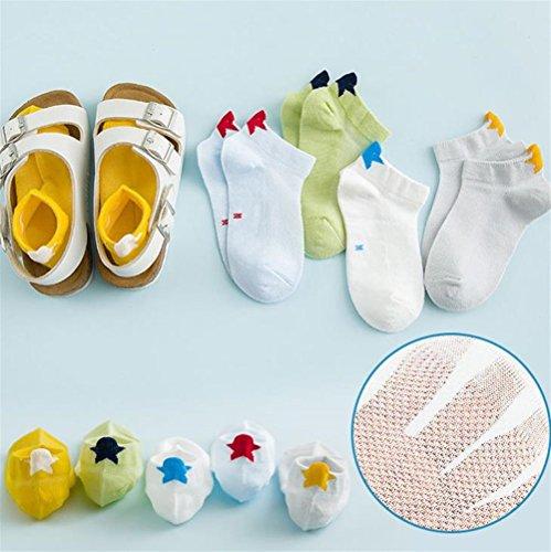 Lizes Girls Summer Mesh Cotton Sports Sneakers (Pentagram-XL-8-11 years old-5 pairs)