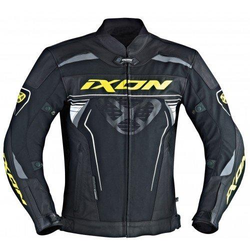 Preisvergleich Produktbild Ixon – Jacke Moto – IXON Frantic schwarz / weiß / gelb Hot – 4 x L