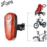 TKSTAR Fahrrad Kinderwagen Motor GPS Tracker LED Rücklicht, Wasserdicht Echtzeit GPS LED Rücklicht versteckt GPS Tracking Gerät mit 25 Tage lange Akkulaufzeit & Kostenlose APP TK906