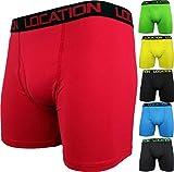 6 Paar Herren Boxershorts Sport Längeres Bein Trunks Unterhose Erwachsene Unterwäsche Neu - Herren, Multi Packung x 6, S