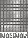 Baier & Schneider Taschenkalender Schülerkalender 2014/15 Grafik grau, 2 Seiten = 1 Woche, 120 x 1