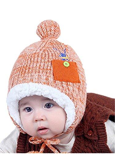 sunnymi Babyhut Mütze Junge Mädchen Unisex Tasche Warme Ohren Kappe Schutz Für 1-4 Jahre Alte Kinder Baumwolle Taufe Festlich Herbst Winter Anzug (D)