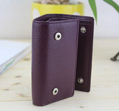 Borsa di cuoio reale della borsa del sacchetto della moneta della borsa di cuoio delle signore delle donne nuovo, borsa di viaggio di cuoio di lusso (colore rosso) bianca