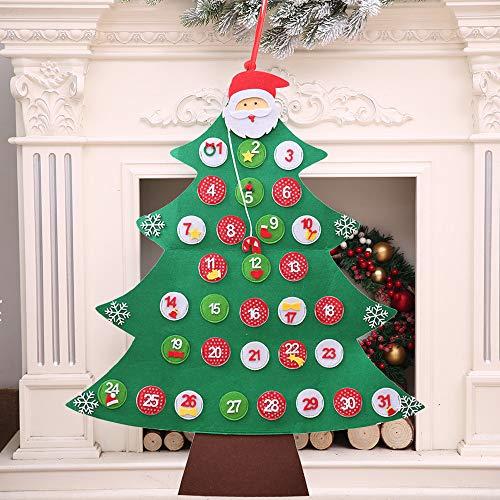Hunpta Wandkalender für Kinder, Weihnachtsbaum ()