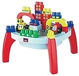 Ecoiffier Abrick Preschool Activity Table, Multi Color (37+24 Free Pieces)