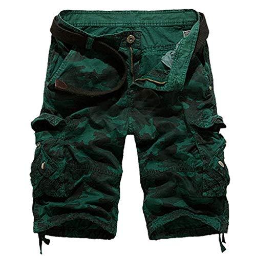 Shorts Herren Reißverschlusstaschen Pure Farbe Draußen Strand Beiläufig Arbeit Cargo Hose Big Star Bootcut Jeans