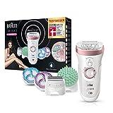 Braun Silk-épil 9 9/990 SkinSpa SensoSmart Epilierer, für Damen mit Andruckkontrolle, Wet&Dry Epilergerät mit 13 Extras, rosegold