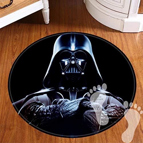 ROOMBA Runde Badematten für Badezimmer Dekor rutschfeste Unterseite Badteppiche für Böden Dusche Küche Flanell Teppich 50,8 cm Star Wars Kollektion Darth Vader Anakin Skywalker Jedi