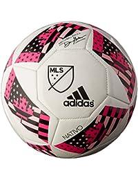 adidas Performance 2016 MLS Glider Soccer Ball, White/Shock Blue/Black, 1