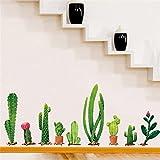 LMMVPDIY 5D Diamante Pintura,Bricolaje cactus familia extraíble pared calcomanía familia casa pegatina mural arte decoración del hogar (90*60cm)