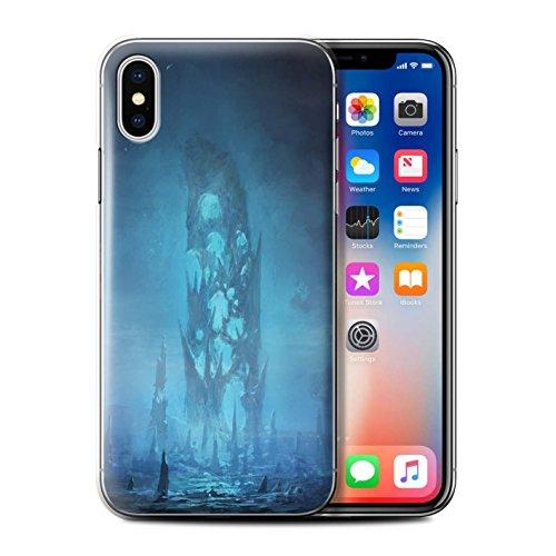 Offiziell Chris Cold Hülle / Case für Apple iPhone X/10 / Alien Landschaft Muster / Fremden Welt Kosmos Kollektion Rest