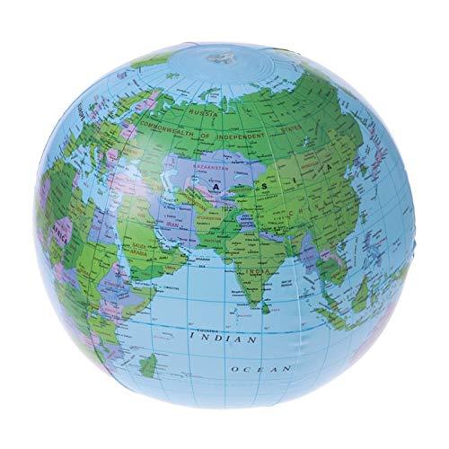 JAGENIE 30CM Aufblasbare Welt Karte Globus Ballon Beach Ball Bildung Geografie Kid ToysChristmas Neujahr Geschenk, 1 Stück, zufällige Lieferung