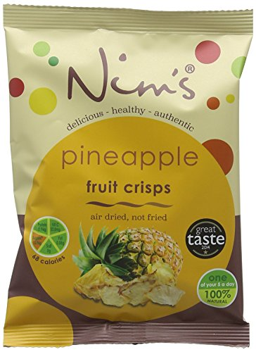 Nim's Air Dried Pineapple Crisps 20 g (Pack of 12) Test