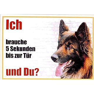 Belgian Shepherd Dog 004Approx. 21x 15cm Laminated Waterproof Ich Brauche 5Sekunden bis zur Tür and you?