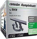 Rameder Komplettsatz, Anhängerkupplung Abnehmbar + 13pol Elektrik für BMW X3 (141279-08763-1)