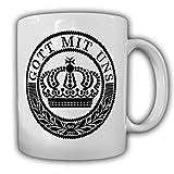Koppelschloss 1WK Gott mit uns deutsches Kaiserreich Heer Wk Abzeichen Kaiser Wilhelm Preußen Kaffee Becher Tasse #20086