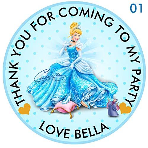 Personalizzati principessa disney cenerentola 50mm 5,1cm party stickers thank you labels