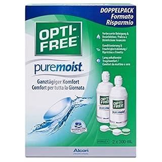 Opti-Free PureMoist Kontaktlinsen-Pflegemittel, Vorratspackung, 2 x 300 ml