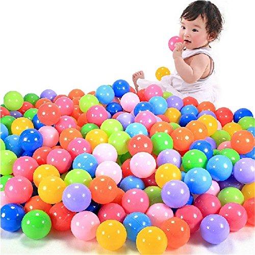 Heroneo 100 palline colorate in morbida plastica per piscine giocattolo bambini