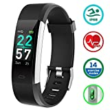 KUNGIX Fitness Tracker, Cardiofrequenzimetro da Polso Schermo a Colori Smart Watch - Activity Tracker Fitness Impermeabile IP68 Braccialetto Orologio Smartwatch per iPhone Android iOS Smartphone