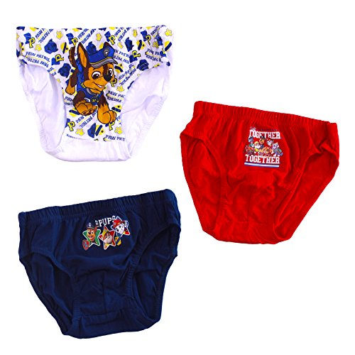 Boys Paw Patrol Briefs Pants Age 2-8 Years Pack Of 3