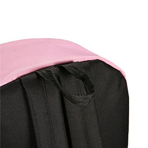 Longra Donne Viaggi tempo libero cucitura zaino di colore Rosa
