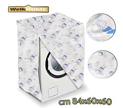 Coprilavatrice in plastica welkhome universale 80 x 60 x 60 cm telo proteggi lavatrice. mws (marine)