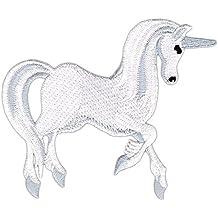 XL-Patch Einhorn Pferd Unicorn bunt mit Wendepailletten Aufnäher Regenbogen