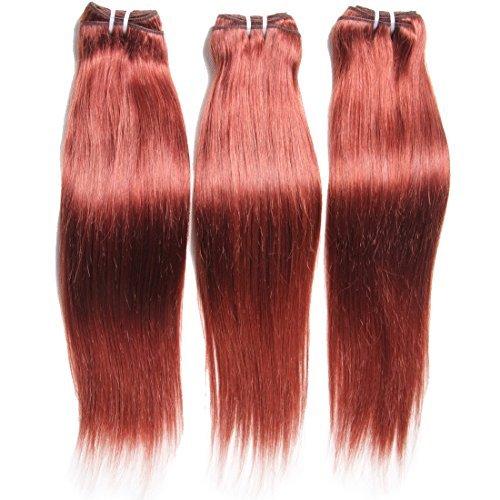 7 grade A Cheveux non traités brésiliens vierges Défrise tissage 3 lots couleur Noir naturel 100% tissage Healthy Sexy de cheveux humains extensions (10 12 14)