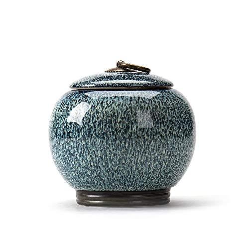 Tmendy Urnas de cremación Cerámica de tamaño Mediano Adulto Humano Cenizas Urna, Cenizas para Mascotas, Ataúd para Adultos, Cerámica sellada (Color : D)