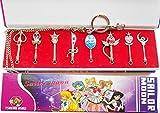 Sailor Moon Transformations Stab Set Cosplay Kostüm Zubehör als Ketten- oder Schlüsselanhänger