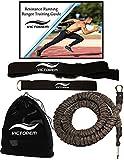 VICTOREM Guide de Workout et Force Running résistance 80 LB Formation Bungee Bande agilité, la Vitesse, la Remise en Forme Rapide 8 Ft - 360°