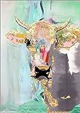 Posterlounge Leinwandbild 70 x 100 cm: Kuh Collage von GreenNest - fertiges Wandbild, Bild auf Keilrahmen, Fertigbild auf echter Leinwand, Leinwanddruck