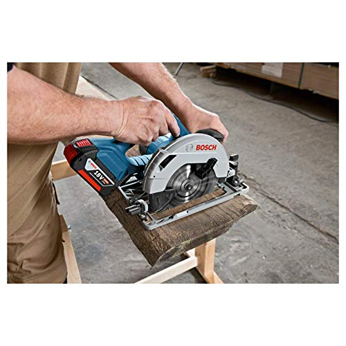 Bosch Professional GKS 18V-57 G Akku-Kreissäge, mit 2 x 18 V 5,0 Ah Akku, Schnitttiefe: 57 mm (bei 90°), L-Boxx, 06016A2100 - 6