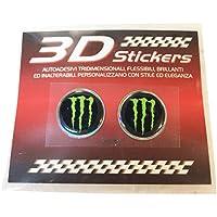 Pegatina 3D Logo Monster 1,5 cm