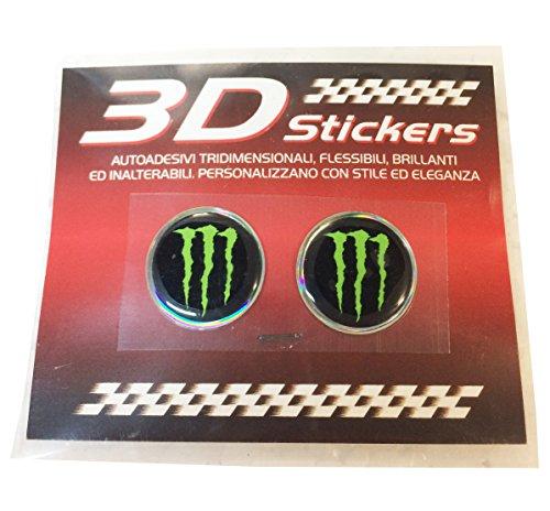Pegatina 3D Logo Monster 1,5cm