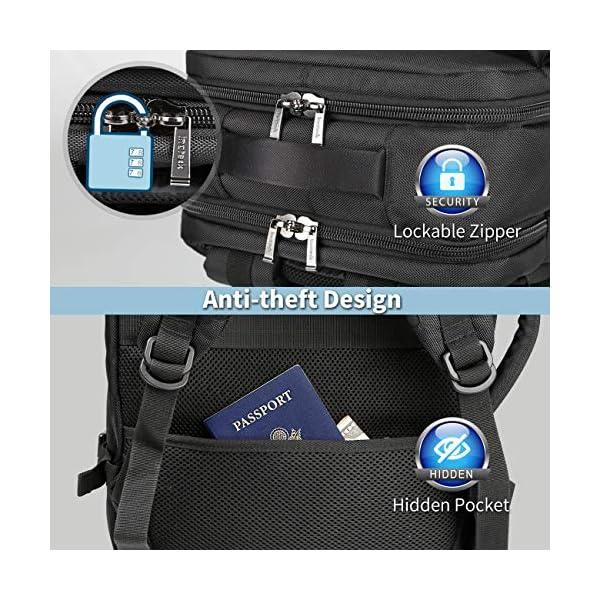 513auyemy5L. SS600  - Inateck 30L Mochila de Viaje de Negocios de 15.6 Pulgadas para excursión del Fin de Semana, Bolsa de Mano Carry on Backpack aprobada por Vuelo, Azul