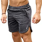 Fitness Bodybuilding Shorts Herren Breathable Gummizug Sport Kurze Hose Outdoor Training Freizeit...