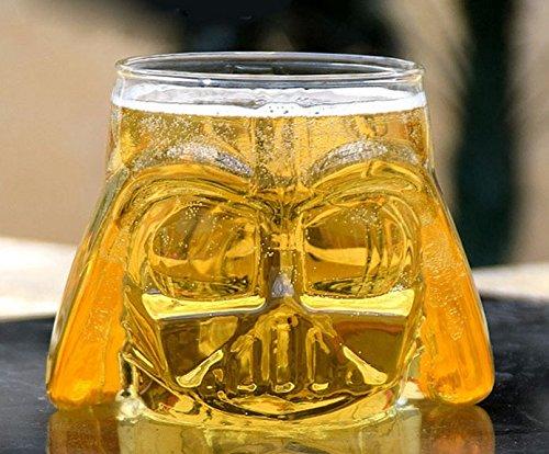 Infiniment Grand Centre de home Decor 2pcs Star Wars Awesome Mug Dark Vador casque à bière Tasse en verre Chevalier Noir Design 3d