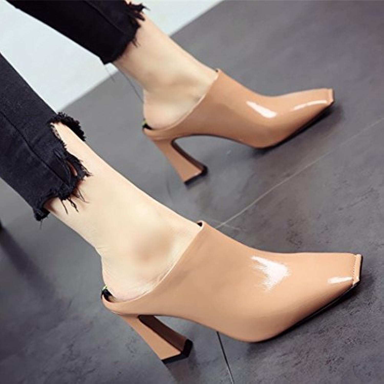 7a93d548bb7c00 au printemps et à à à l'automne à la mode flyrcx sexy talons dame avec des  diaFemmets bruts de souliers en cuir chaussures partie a indiqué b07bfr7jnm  ...