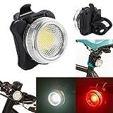 Wiederaufladbare LED Fahrradlampe, LED Frontlicht und Rücklicht Für Fahrrad, USB LED Fahrradlicht, Fahrradbeleuchtung, Wasserdichte 4 Licht-Modi Rot Weiß 1 USB-Kabel zum Aufladen by Ulanda-EU